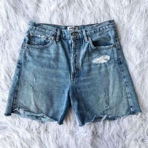 AGOLDE Dee Button Fly Distressed Jean Shorts